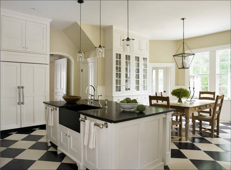 Black And White Kitchen Floor Pictures