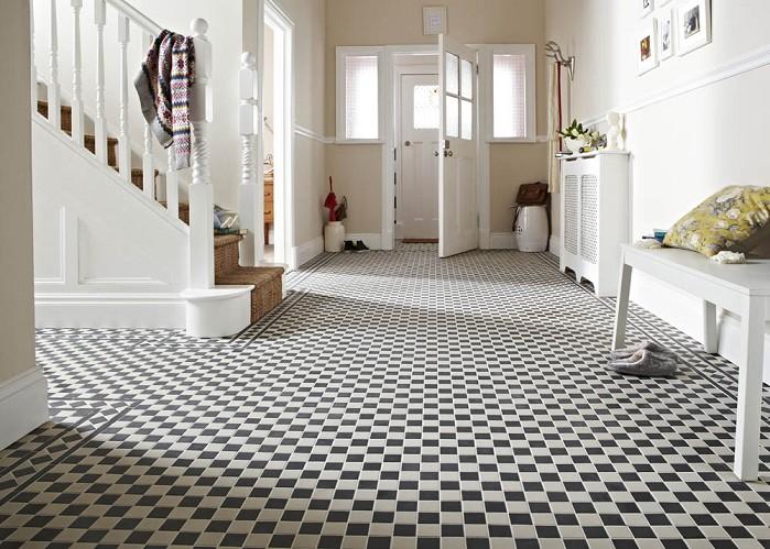 Black And White Tile Patterns Kitchen