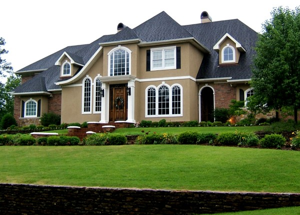Brown House With White Trim Pics