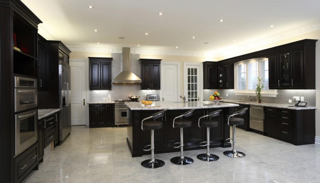 Kitchen Color Schemes With Dark Cabinets 1024x588