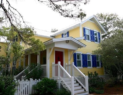 Light Yellow House