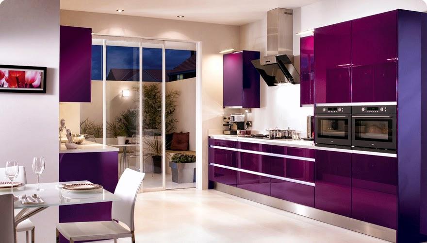 Purple Kitchens Design Ideas