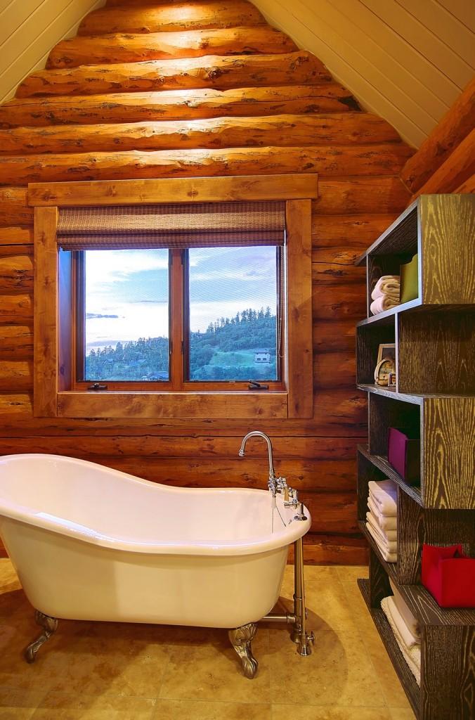 Rustic Log Cabin Construction 676x1024