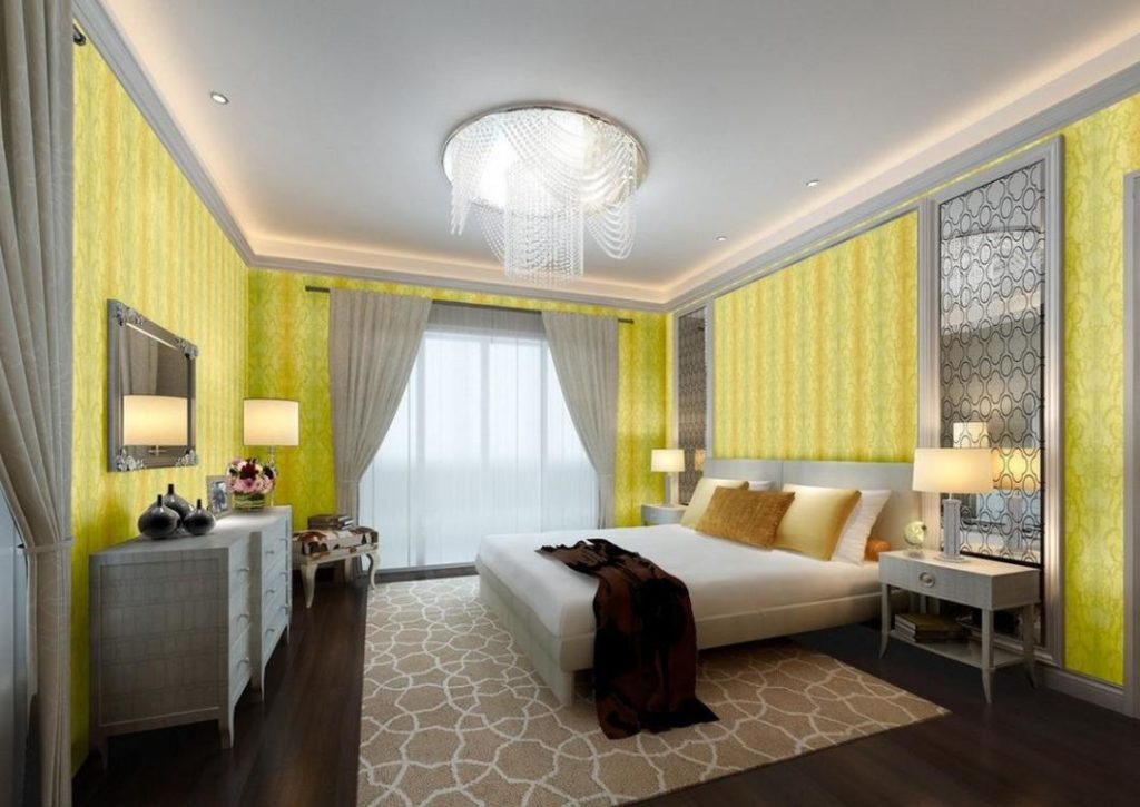 Yellow And Grey Bedroom Accessories 1024x725